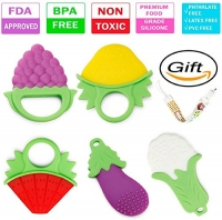 ihocon: Baby Teething Toys BPA Free(Pack of 5)嬰幼兒固齒器