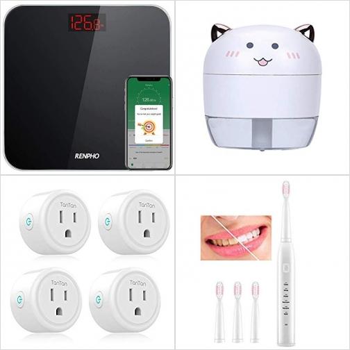 [Amazon折扣碼] 體脂體重計, 室內加濕器, 智能插座, 電動牙刷 額外折扣!