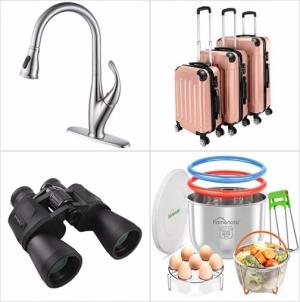 [Amazon折扣碼] 廚房水龍頭, 硬殼行李箱3個, 望遠鏡, 電壓鍋配件 額外折扣!