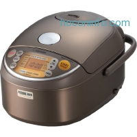 ihocon: Zojirushi Induction Heating Pressure Rice Cooker & Warmer 1.0 Liter, Stainless Brown NP-NVC10微電腦智能電飯鍋