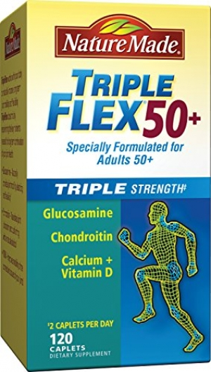 ihocon: Nature Made TripleFlex Triple Strength 50+ Caplet (Glucosamine Chondroitin MSM) Value Size 120 ct