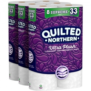 ihocon: Quilted Northern Ultra Plush Toilet Paper 超軟家庭號大捲 廁所衛生紙 24捲