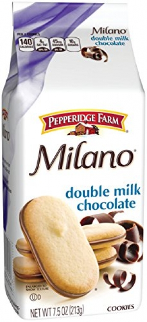 ihocon: Pepperidge Farm, Milano, Cookies, Double Milk Chocolate, 7.5 oz, Bag, 3-count巧克力餅乾3包