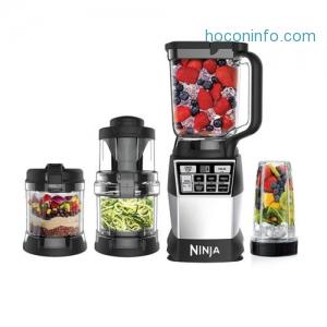 ihocon: Ninja 4合1 Auto-iQ 1200W Blending Processing Spiral Kitchen System AMZ012BL