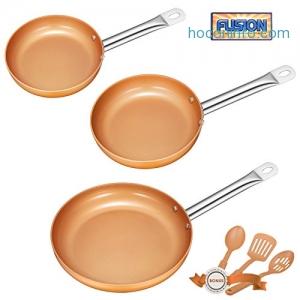 ihocon: Deik Non-stick Chef Pan Set with 3 Bonus Spatula and Spoon