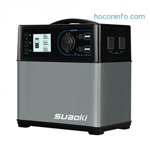 ihocon: Suaoki 400Wh/120000mAh Portable Solar Generator Lithium ion Power Supply