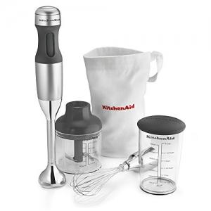 ihocon: KitchenAid KHB2351CU 3-Speed Hand Blender - Contour Silver 三段速手持攪拌器組