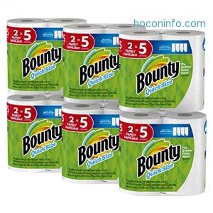 ihocon: Bounty Quick-Size Paper Towels, 12 Family Rolls 廚房紙巾