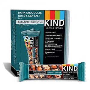 ihocon: KIND Bars, Dark Chocolate Nuts & Sea Salt, Gluten Free, 1.4 Ounce Bars, 12 Count