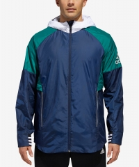 ihocon: adidas Men's Sport ID Colorblocked Hooded Jacket - 2色可選