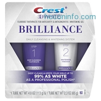 ihocon: Crest 3D White Brilliance Daily Cleansing Toothpaste and Whitening Gel System, 4.0oz and 2.3oz