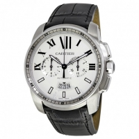 ihocon: CARTIER Calibre de Automatic Silver Dial Men's Watch, W7100046卡地亞男錶