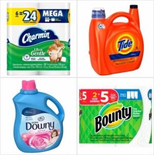 Target: 洗衣精, 衛生紙, 廚用紙巾, 衣物柔軟劑, 面紙, 烘衣紙..等 買$40送$10 gift card