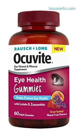 ihocon: [視力保健] Bausch + Lomb New Ocuvite Eye Health Gummies with Lutein, Zeaxanthin and other Antioxidants, 60 Count