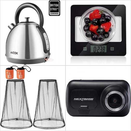 [Amazon折扣碼] 不銹鋼電熱水瓶, 廚用電子秤, 臉部防蚊/蟲網, 行車記錄器 額外折扣!