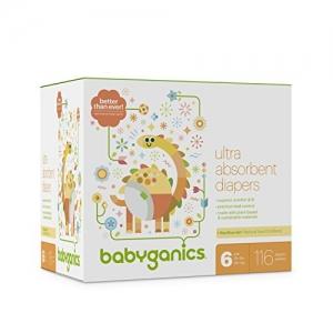 ihocon: Babyganics Ultra Absorbent Diapers, Size 6, 116 count