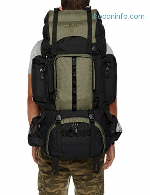 ihocon: AmazonBasics Internal Frame Hiking Backpack with Rainfly登山背包