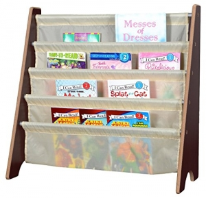 ihocon: Naomi Home Kids Toy Sling Book Rack, Cream/Espresso  兒童書架