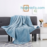 "ihocon: LANGRIA Soft Flannel Blanket(50"" x 60"", Blue)"