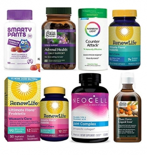 [Amazon 今日特賣] SmartyPants, Gaia Herbs, Rainbow Light, Renew Life及NeoCell維他命及保健品  特價優惠