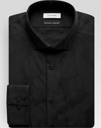 ihocon: Calvin Klein Infinite Non-Iron Black Camo Slim Fit Dress Shirt