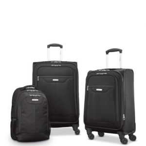 ihocon: Samsonite Tenacity 3 Piece Luggage Set - Black, Blue, 25, 21, Backpack 行李箱+背包
