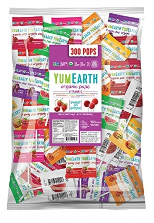 ihocon: YumEarth Organic Vitamin C Lollipops, Assorted Flavors, 5 Pound Bag 有機棒棒糖