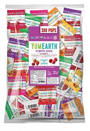 ihocon: YumEarth Organic Vitamin C Lollipops, Assorted Flavors, 5 Pound Bag 有機棒棒糖
