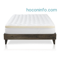 ihocon: Mattress Pad with Fitted Skirt - Double Thick Extra Plush Mattress Topper - 2 Pieces