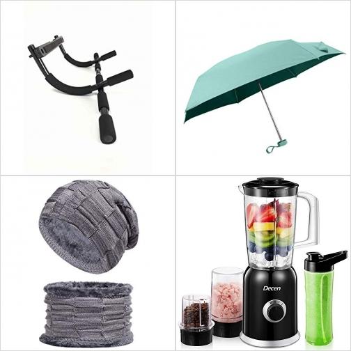 [Amazon折扣碼] 門上Pull up bar, 輕型折疊傘, 保暖帽及圍脖, Smoothie Blender 額外折扣!