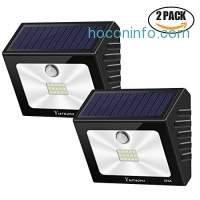 Yurnero LED 太陽能動作感應庭園燈 2個 $13.74(原價$24.99, 45% Off)