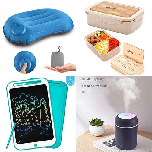 [Amazon折扣碼] 充氣露營枕, 兒童防漏便當盒, 彩色LCD手寫/繪圖板, 精油擴香機 額外折扣!