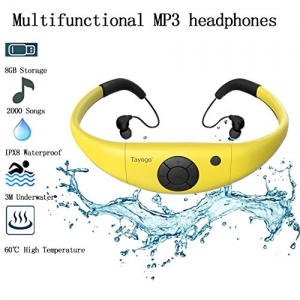 ihocon: Tayogo Waterproof MP3 Player for Swimming Work for 6-8 Hours Underwater 3 Meters, with Shuffle Feature