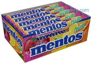 ihocon: Mentos Chewy Mint Candy Roll, Fruit, Easter Basket Candy, 1.32 ounce/14 Pieces (Pack of 15)
