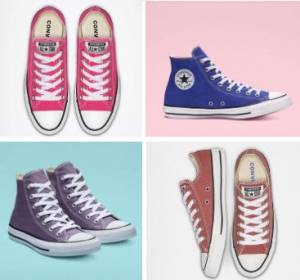 [最後一天] Converse 高筒或短筒鞋 – 多色可選 $25免運 (原價高達$55)