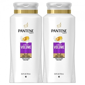 ihocon: Pantene Pro-V Sheer Volume 2 in 1 Shampoo & Conditioner, 25.4 fl oz (Pack of 2) 2合1洗髮精/潤髮乳