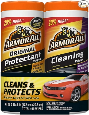 ihocon: Armor All Car Interior Cleaner Protectant Wipes - Cleaning for Cars & Truck & Motorcycle, 30 Count (Pack of 2) 汽車清潔濕巾
