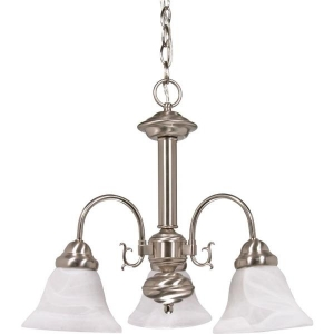 ihocon: Monument 3-Light Brushed Nickel Chandelier 吊燈
