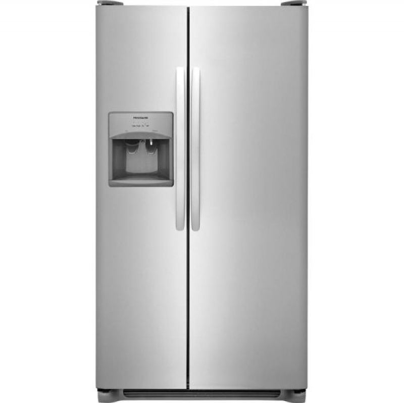 ihocon: Frigidaire 25.5 cu. ft. Side by Side Refrigerator in Stainless Steel 不銹鋼冰箱