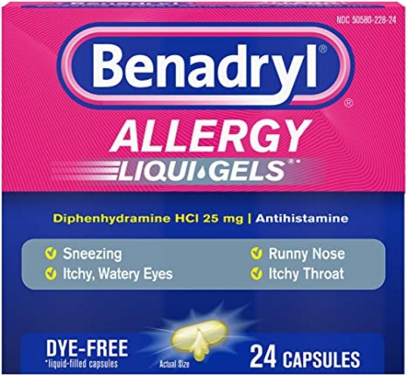 Benadryl 抗過敏藥 24粒 $3.37(原價$4.44)