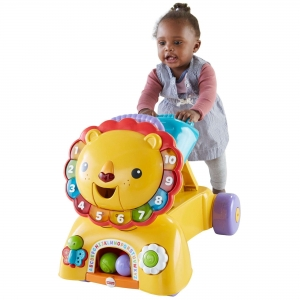 ihocon: Fisher-Price 3-in-1 Sit, Stride & Ride Interactive Lion 三合一遊戲車