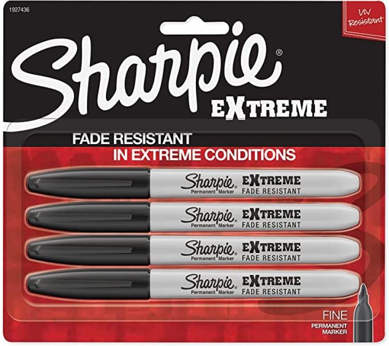 ihocon: Sharpie Extreme Permanent Markers, Black, 4-Count 黑色簽字筆