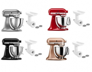ihocon: KitchenAid KSM150GBQER Artisan Tilt-Head Stand Mixer with Food Grinder Attachment, Empire Red  攪拌機 - 多色可選, 含絞肉配件