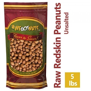 ihocon: Raw Redskin Peanuts (Unsalted) 5LB Bag Bulk - We Got Nuts 帶皮花生(生的)