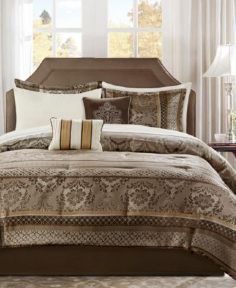 ihocon: Addison Park Bellagio Queen 9-Pc. Comforter Set 9件式棉被,床單,枕頭套組
