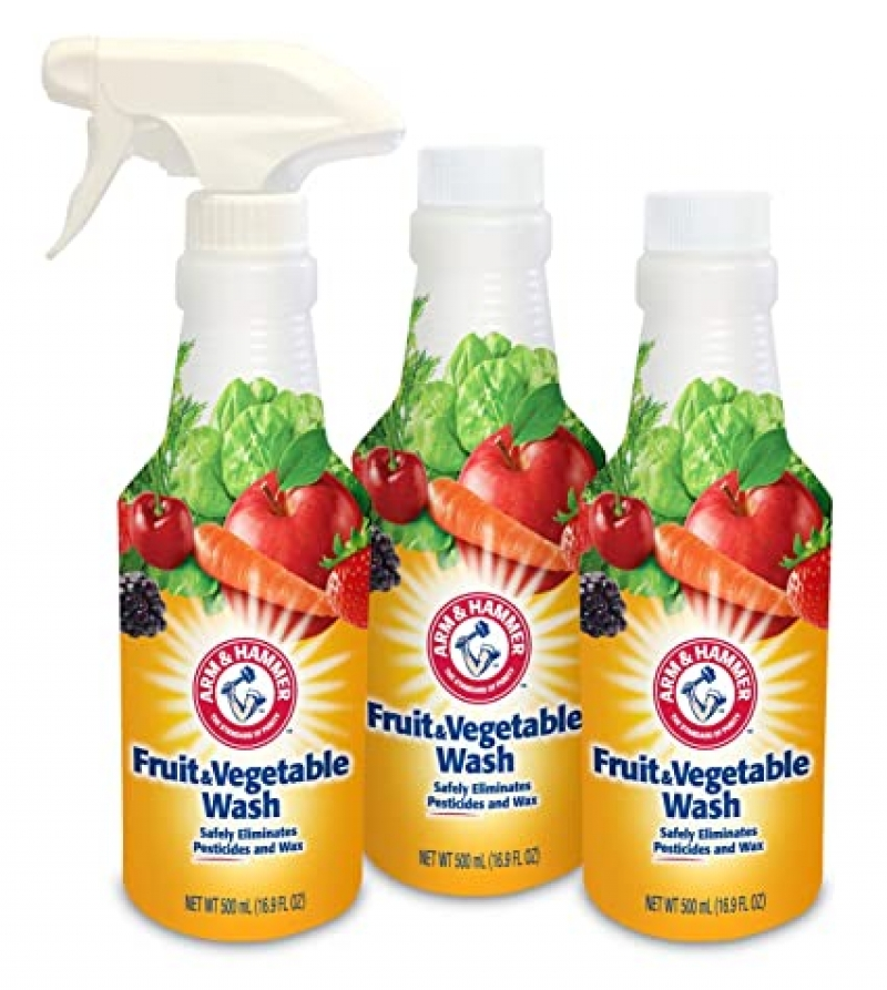 ihocon: Arm & Hammer Fruit & Vegetable Wash, Produce Wash, Produce Cleaner, Pack of 3, 16 oz. Bottles, 1 Trigger 蔬果清洗劑