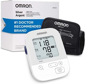 ihocon: Omron Silver Blood Pressure Monitor, Storesup To 80 Readings歐姆龍上臂血壓計
