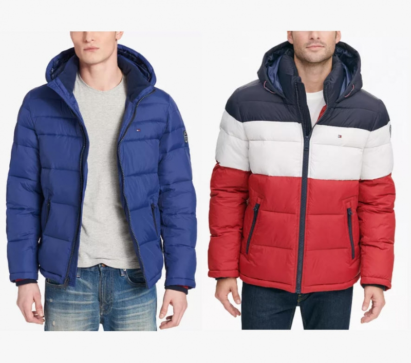 ihocon: Tommy Hilfiger Men's Quilted Puffer Jacket男士夾克-多色可選