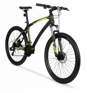 ihocon: Hyper 26吋 Carbon Fiber Men's Mountain Bike, Black/Green  碳纖維男士自行車