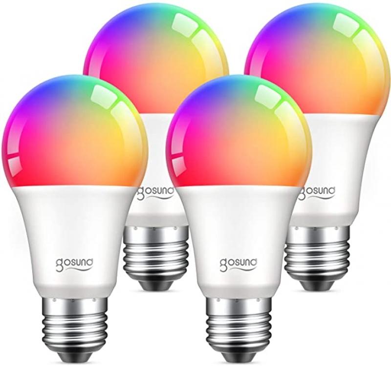 ihocon: TanTan Alexa Smart Light Bulbs, 4 Pack 彩色光線微調智能燈泡